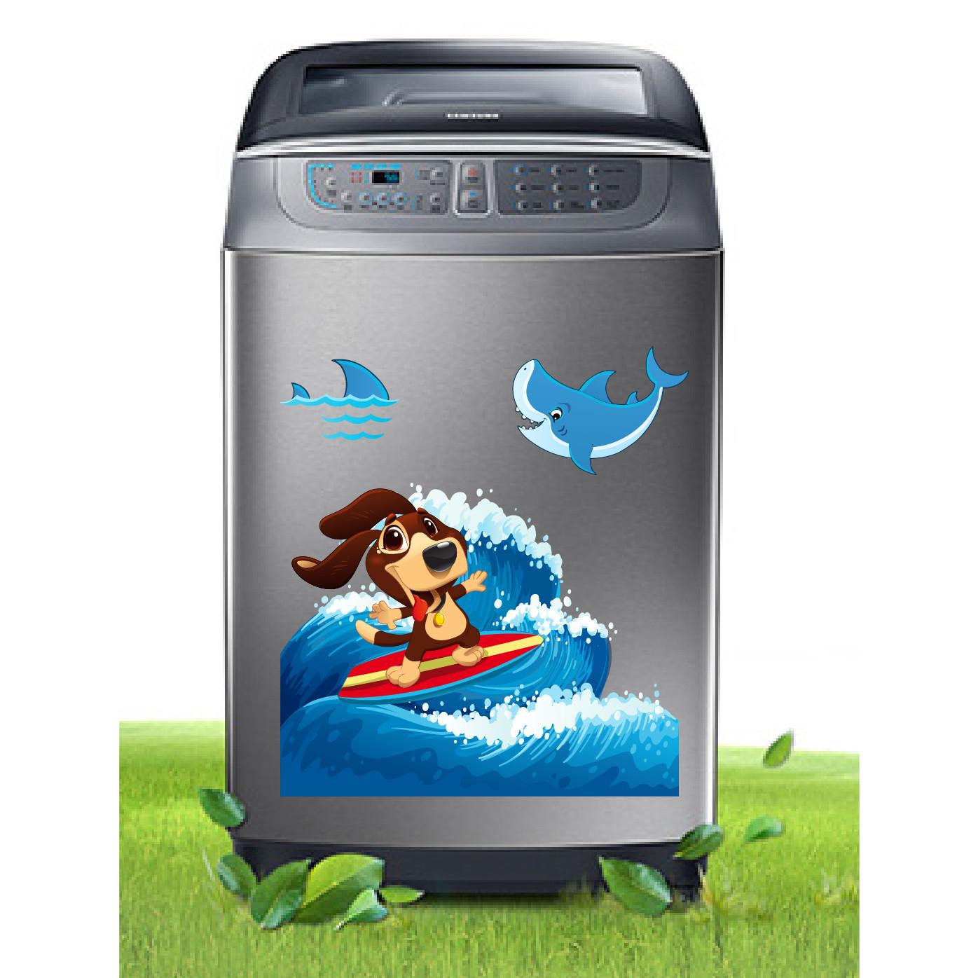 Decal trang trí máy giặt số 13