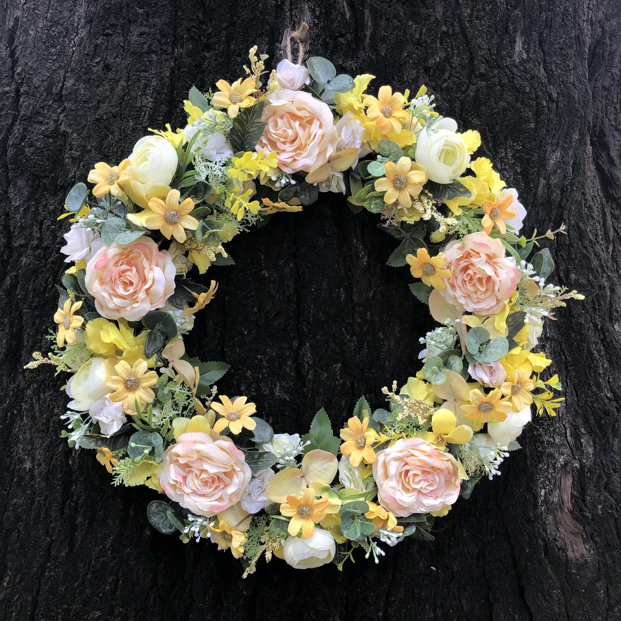 Vòng Hoa Vải Handmade V16006