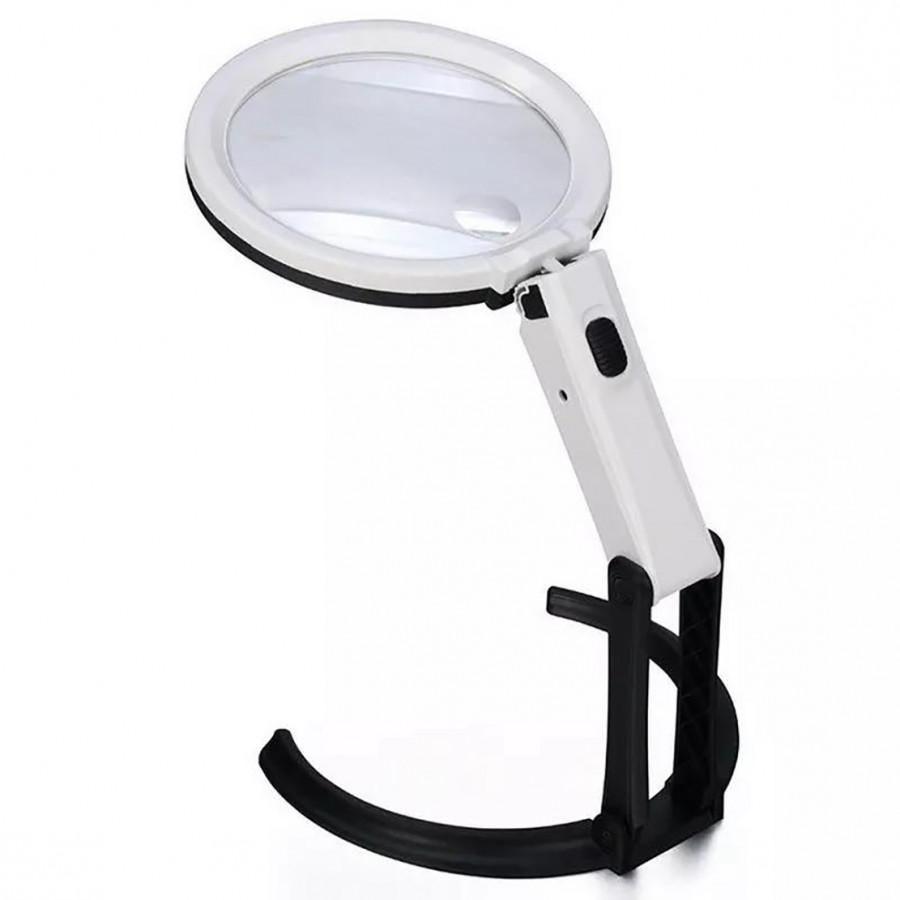 Kính lúp để bàn có đèn 30x dùng đọc sách, giám định đá quý, xem đồ cổ,...