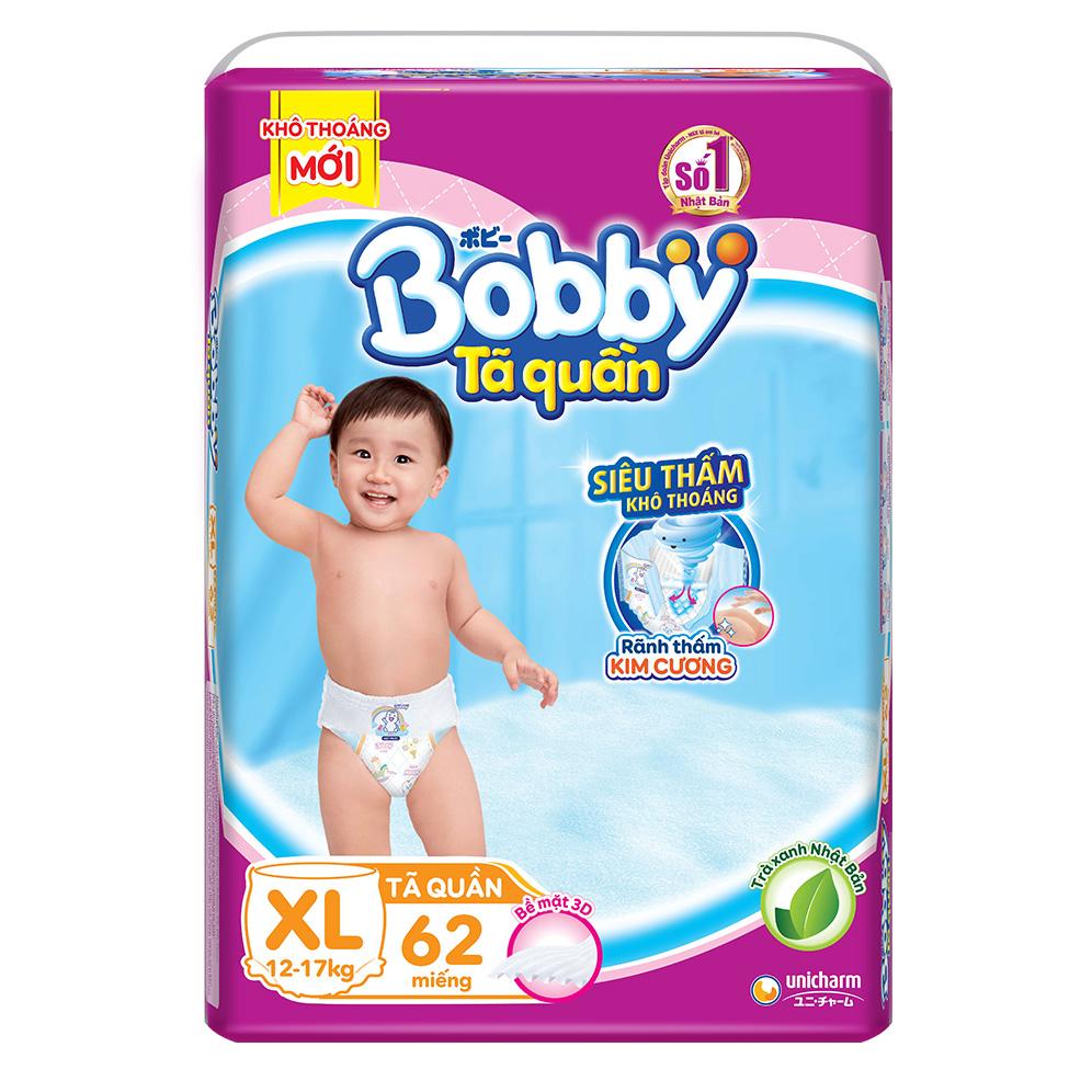 Tã Quần Bobby Ultra Jumbo XL62 Siêu Siêu Lớn Size XL - 62 Miếng