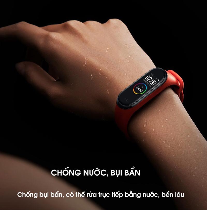 Dây Đeo Thay Thế Cho Vòng Đeo Tay Thông Minh Xiaomi Mi Band 3 Mi Band 4 full đen - Hàng chính hãng