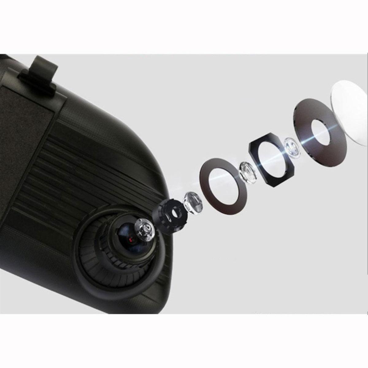 Camera Hành Trình Kết Hợp Gương Chiếu Hậu Màn Hình Hiển Thị 7 Inch Kèm Camera Lùi