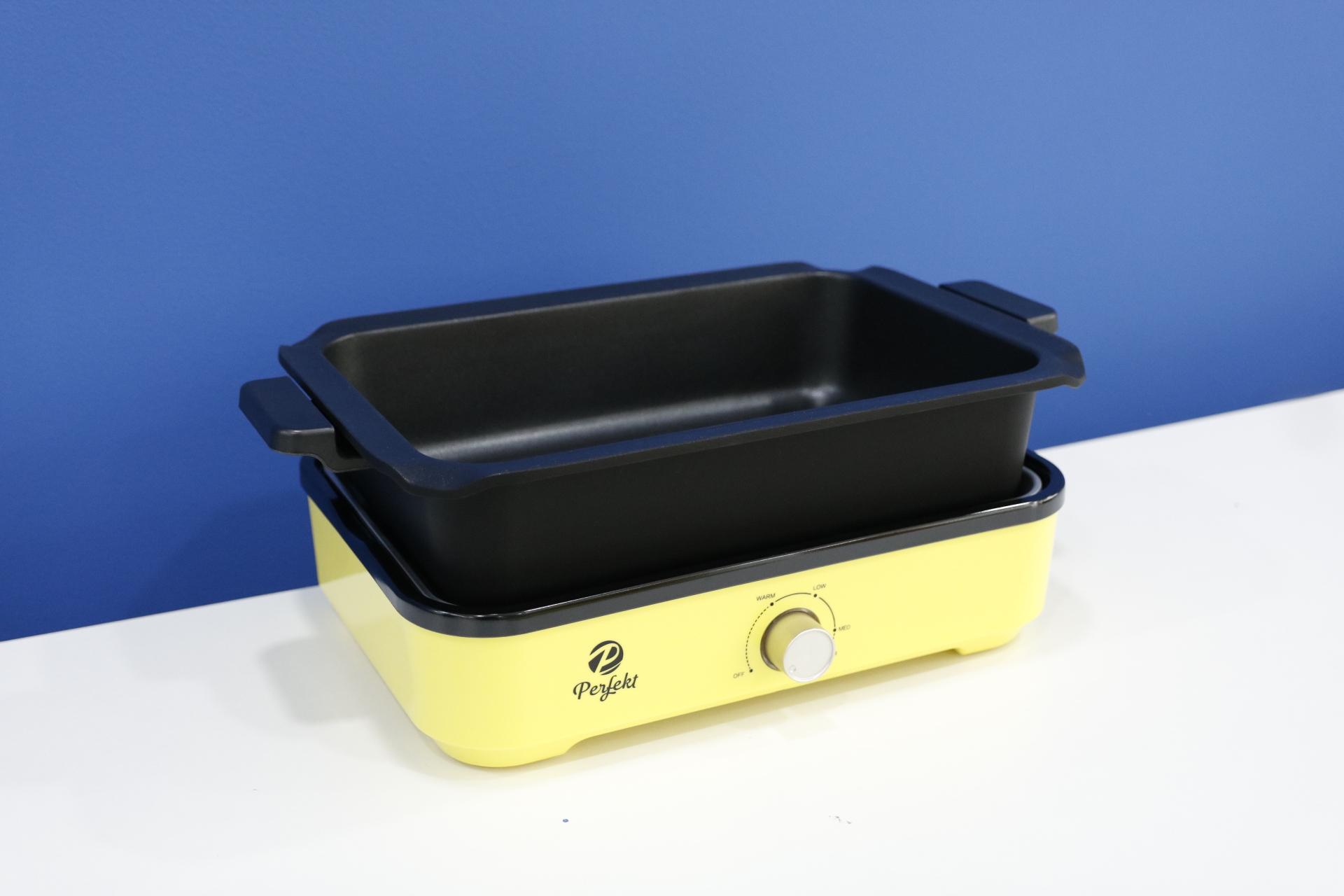 Nồi điện đa năng 5 trong 1 (Nướng, Lẩu, Chiên, Xào, và bánh pancake) cao cấp