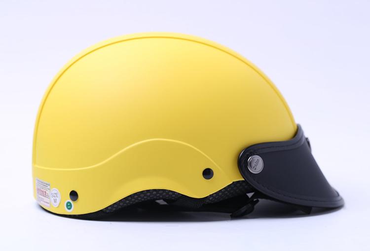 Mũ Bảo Hiểm 1/2 Chita - Vàng Sơn Mờ (Size M)