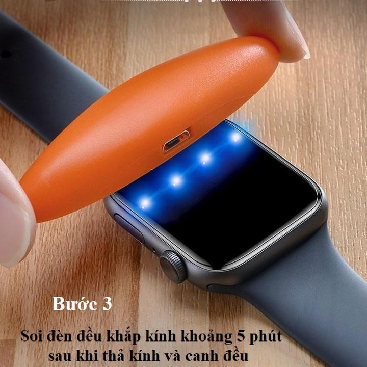 Cường lực full Apple Watch Seri 4/5 40mm uv T-Max - Hàng nhập khẩu