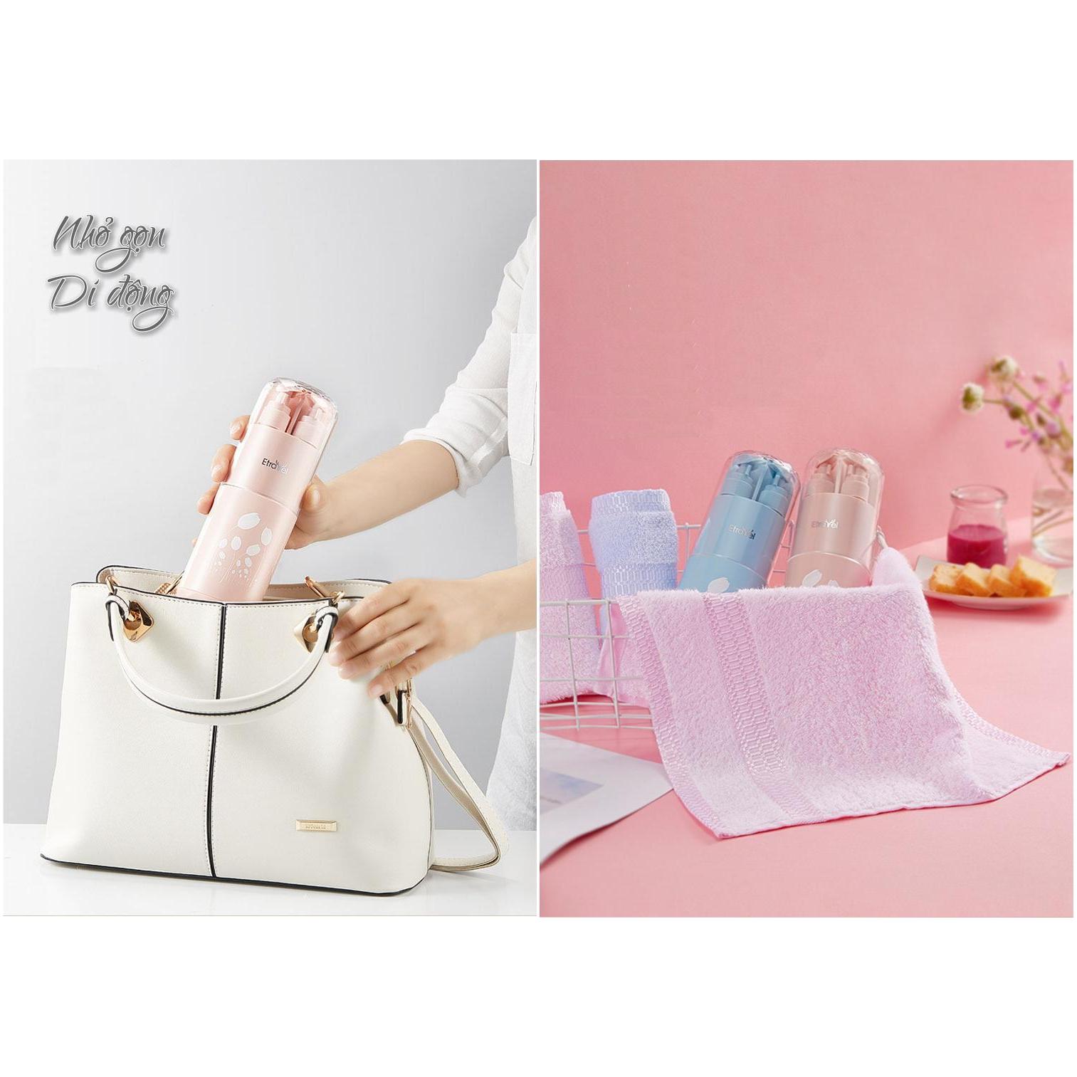 Hộp đựng bàn chải, kem đánh răng, lược, khăn mặt và mỹ phẩm - TRAVEL KIT ETRAVEL mới