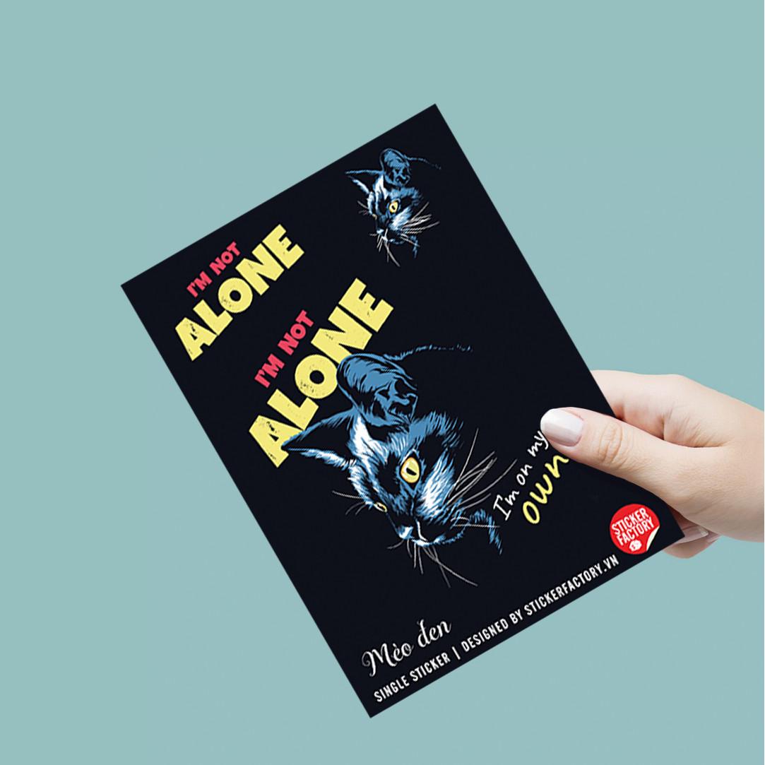 Mèo Đen - Single Sticker hình dán lẻ