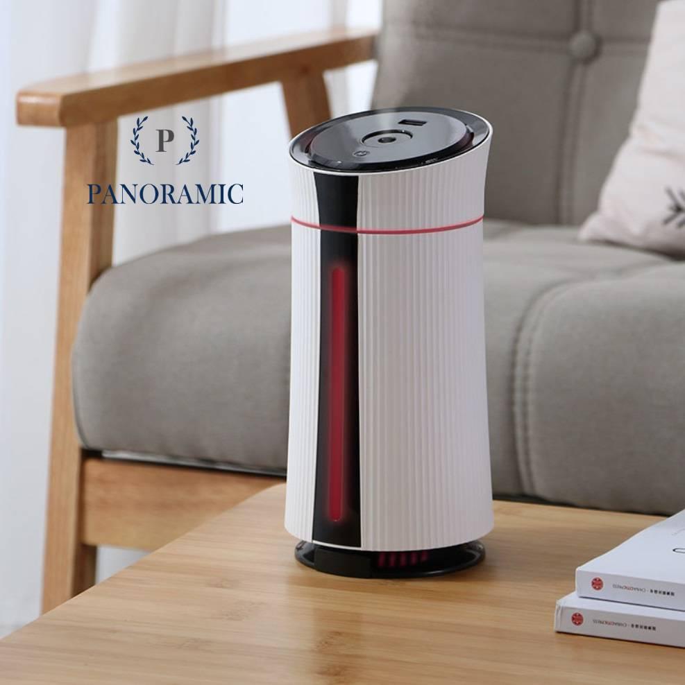 Máy phun sương tạo ẩm không khí, máy xông và khuyếch tán tinh dầu mini với 2 chế độ phun tự thay đổi màu sắc