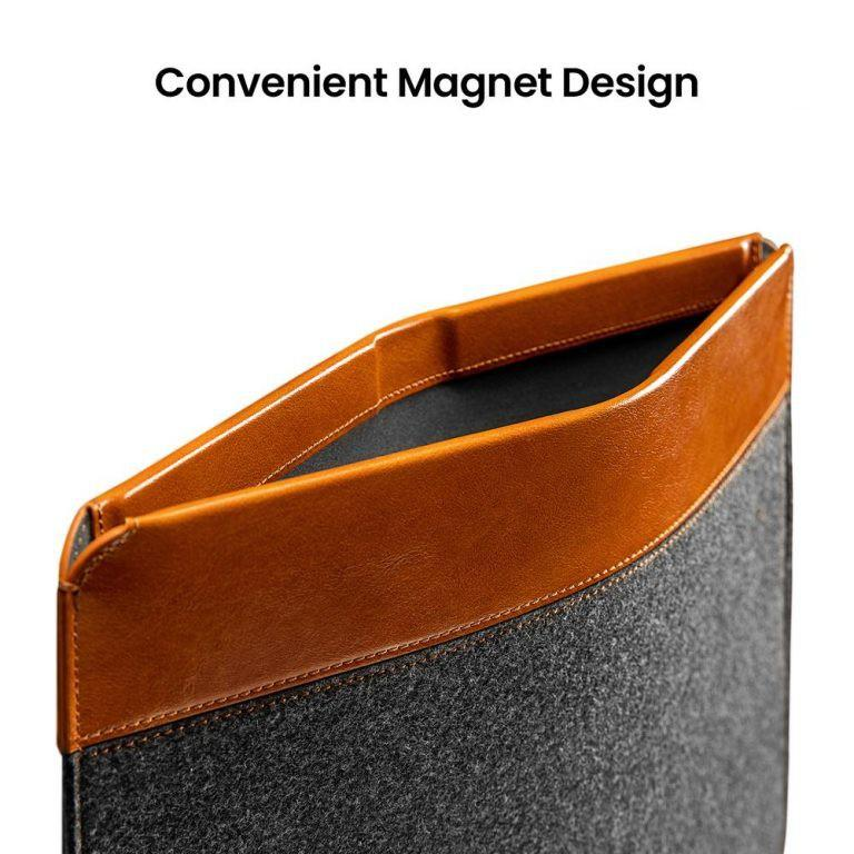 """Túi chống sốc Tomtoc Felt & Pu Leather For Macbook PRO/AIR 13""""/16"""" New - H16"""