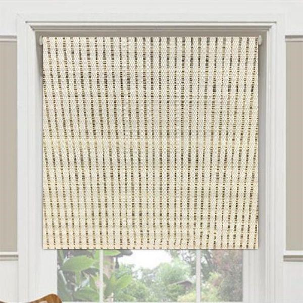 Rèm cuốn cao cấp nguyên bản - ngang|rộng cố định 2.2m - nguyên thanh treo - mã vải MC403