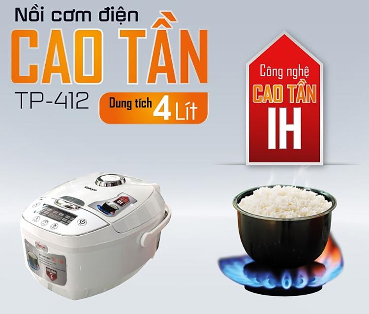 Nồi Cơm Điện Cao Tần IH Yakyo TP-412 (4.0 Lít) - Hàng Chính Hãng