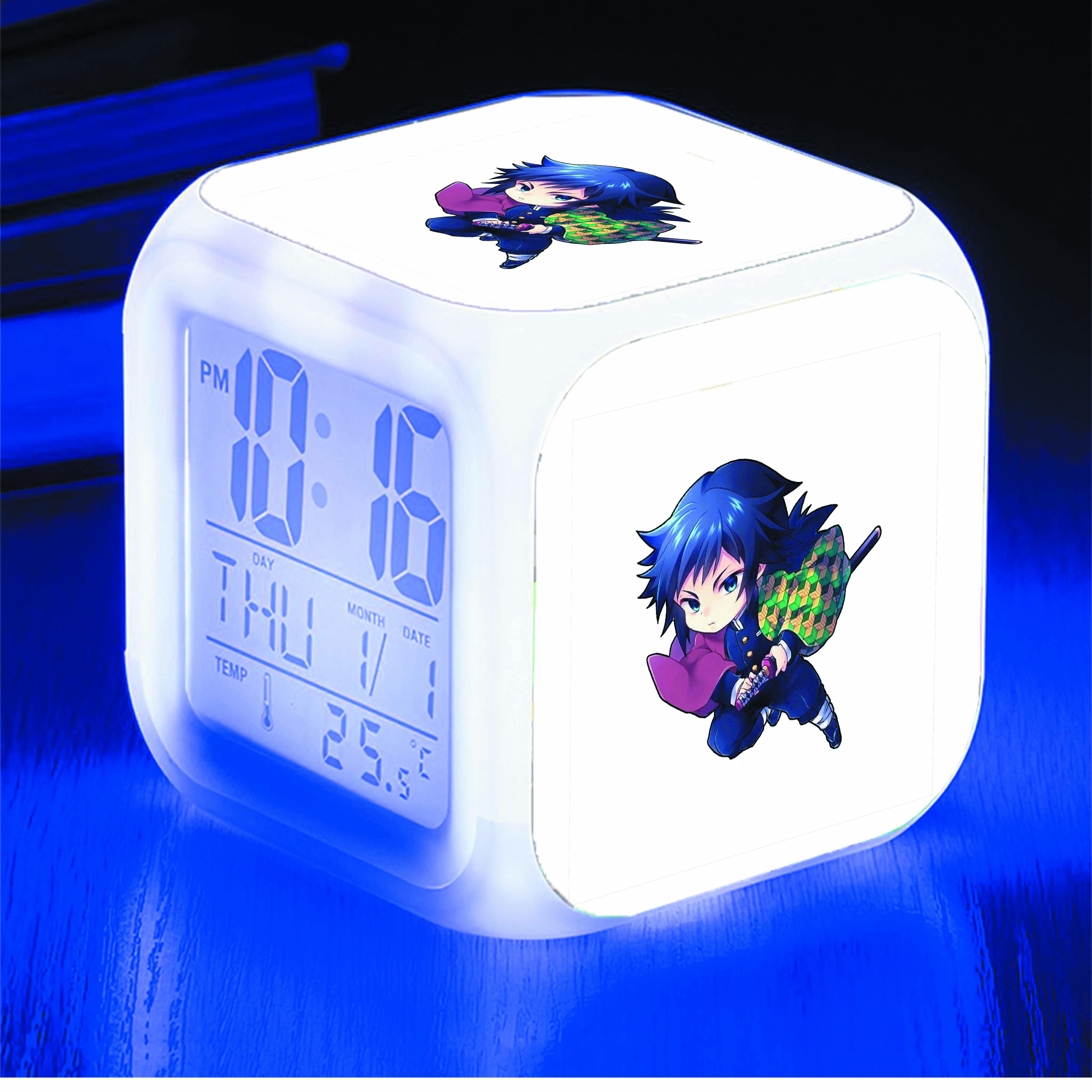 Đồng hồ báo thức để bàn IN HÌNH Kimetsu no Yaiba - Thanh Gươm Diệt Quỷ anime chibi