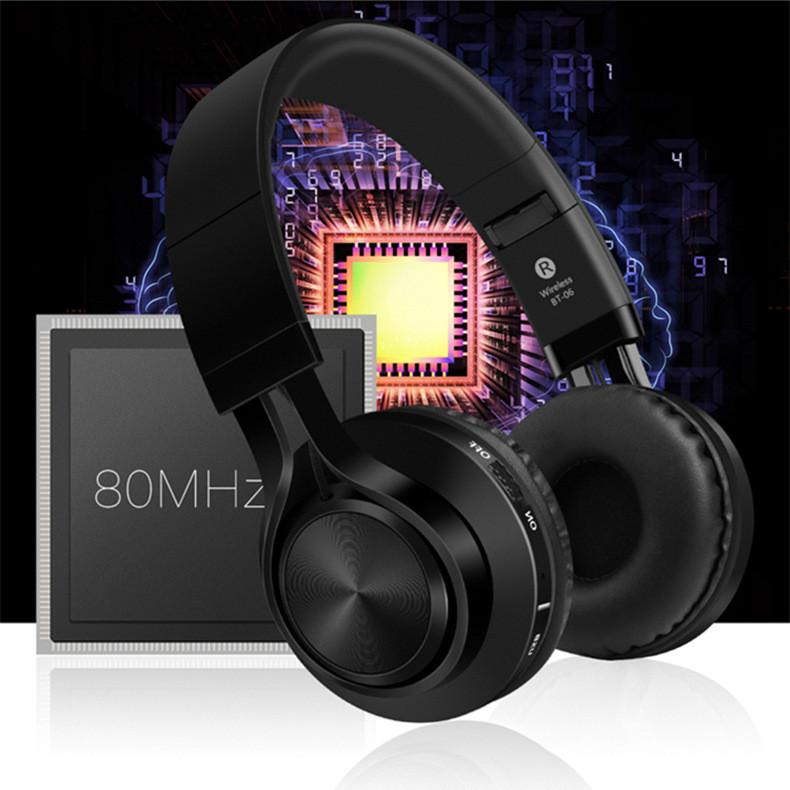 Tai nghe Bluetooth Cao Cấp B06 - Thiết kế thời trang siêu hiện đại - Dung lượng pin siêu lớn