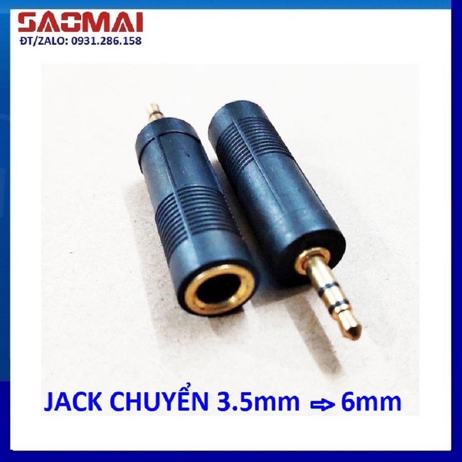 Combo 2 Jack chuyển 3,5mm ra 6mm ( rắc chuyển 3 ly ra 6 ly )