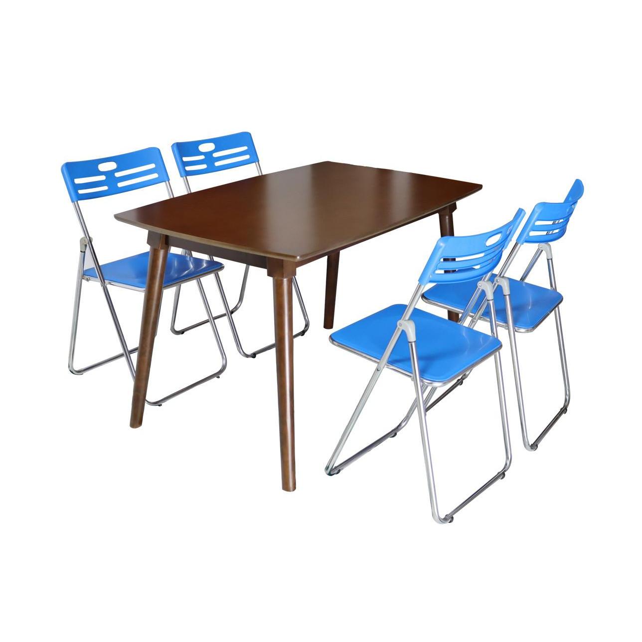 Bô Bàn Ghế Phòng ăn 1.2 M 4 Ghế HP HT06112W4GHP Màu WALNUT