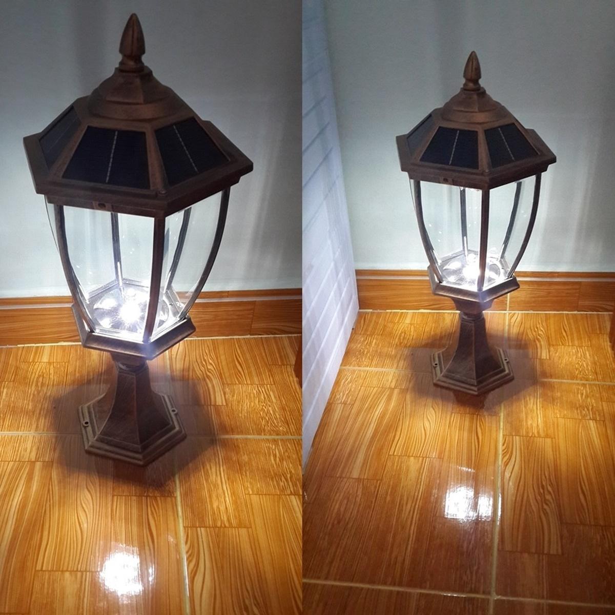 Đèn trụ cổng năng lượng mặt trời chóp tháp- L4E (ánh sáng trắng)