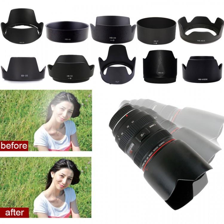 Len Hood Nhựa ABS Che Nắng Bảo Vệ Ống Kính Máy Ảnh Nikon HB-69 dành cho ống kính Nikon 18-55 VR II (đời 2) - HÀNG CHÍNH HÃNG