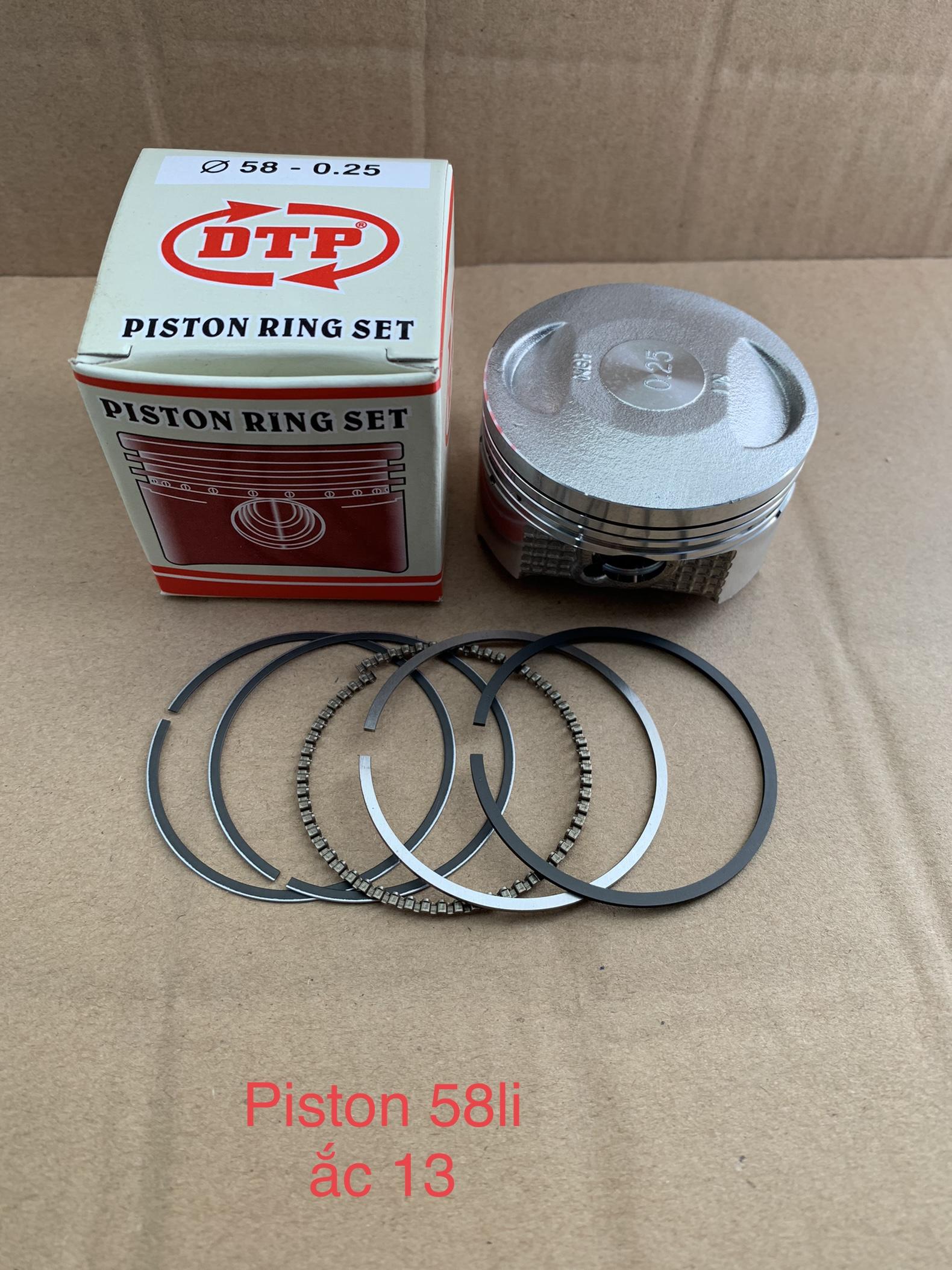 Bộ piston 58.0 li Ắc 13