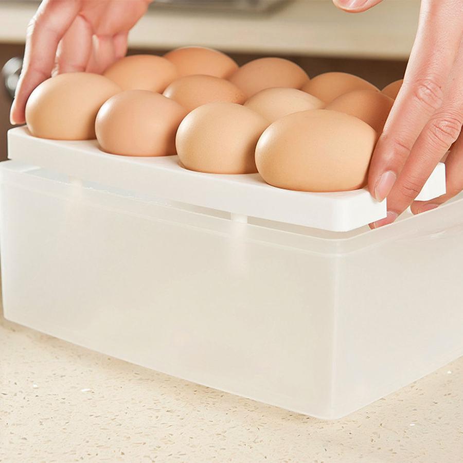 Hộp Đựng Trứng 2 Tầng 24 Quả HDT-01