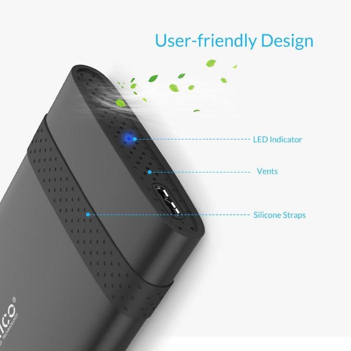 """Box đựng ổ cứng 2.5"""" ORICO 2538U3 cổng USB 3.0 - Hàng Chính Hãng"""