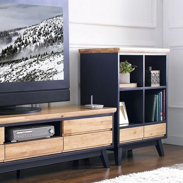 Tủ TV 5 Ngăn Kéo NB-Blue Gỗ Tự Nhiên Ibie LV5KNBBR - Xanh (160 x 42 cm)