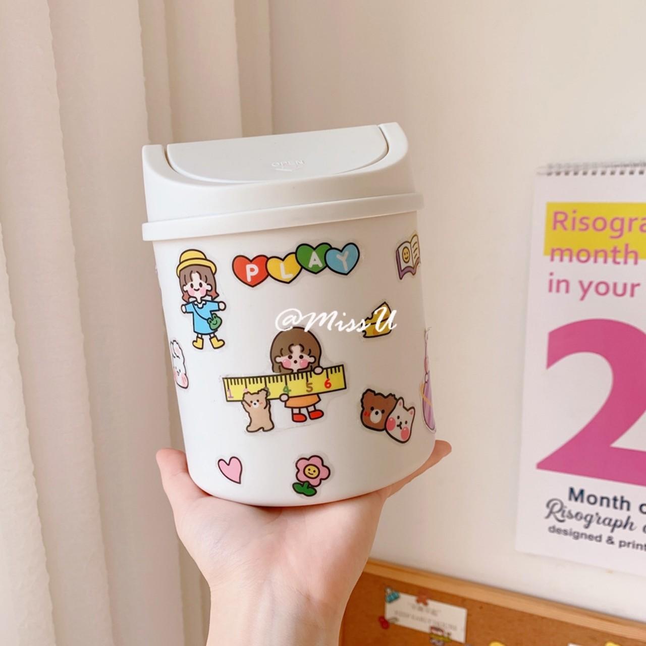 Thùng rác mini để bàn thiết kế đáng yêu