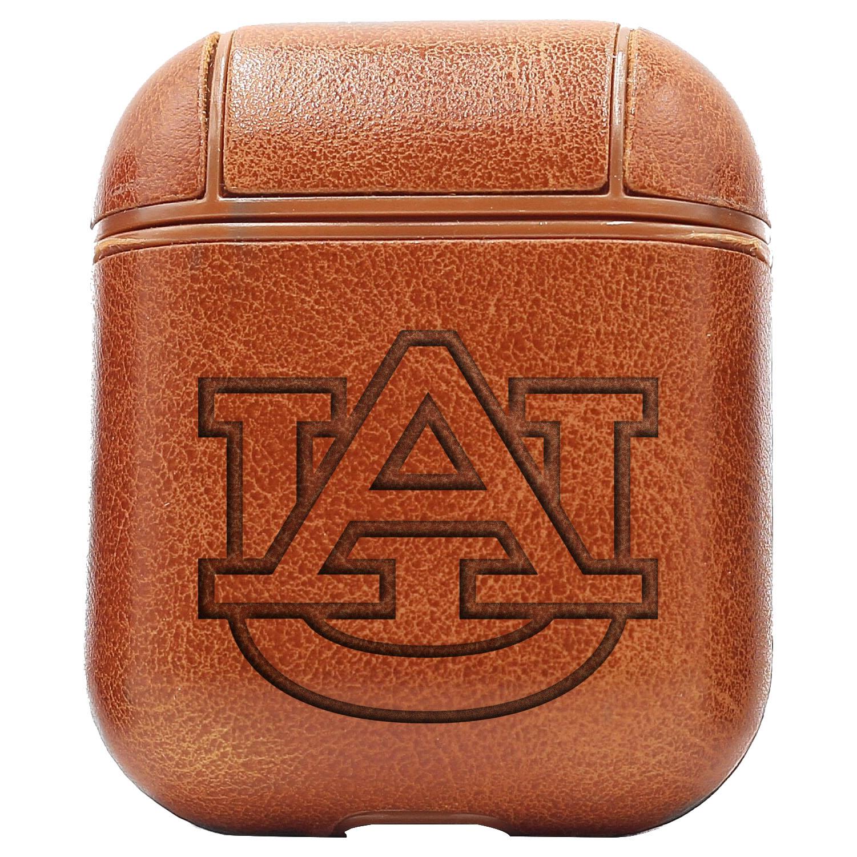 Bao Da Cover Apple Airpods 1 / 2 Premium  Khắc Hình Logo Auburn Tigers