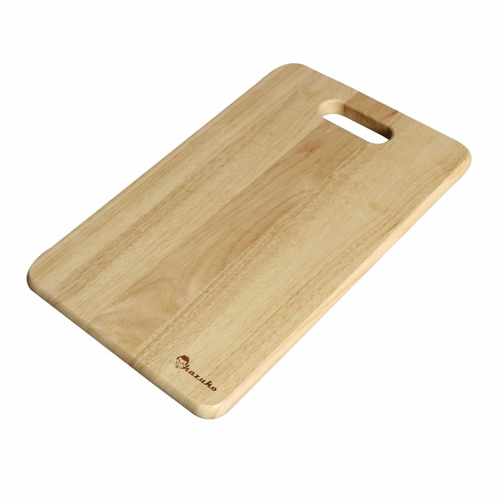 Thớt Gỗ tốt nhất cho nhà bếp làm từ Cây Cao Su - Kazuko Cao Cấp loại Trung C001S-S : 2 sọc gỗ Óc Chó