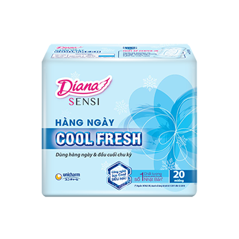 Combo Diana Super Night 35cm + 3 Siêu thấm Cool Fresh + Sensi Cool hàng ngày tặng 1 đèn ngủ silicon cao cấp - Giao ngẫu nhiên