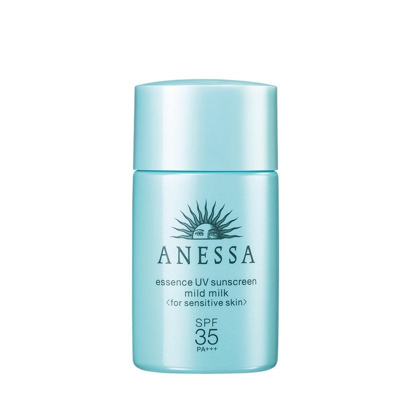 Bộ 3 Sản Phẩm Anessa Gel chống nắng dưỡng trắng cho mẹ 90g, Tinh chống nắng dịu nhẹ cho bé 20ml + Anessa Perfect BB Base Beauty Booster Natural 25ml