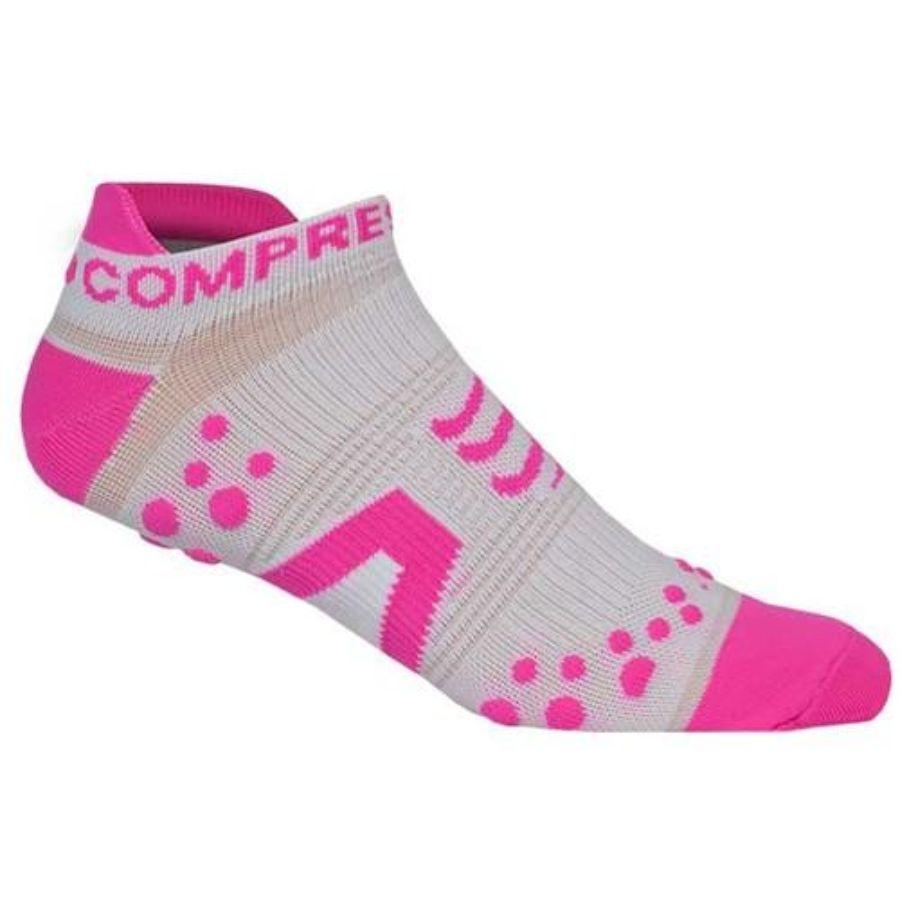 Vớ chạy bộ , chạy trail Compressport Racing socks V2 RUN LOW - Trắng