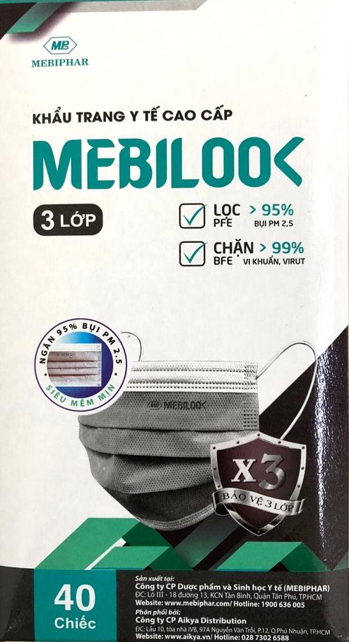 Khẩu Trang 3 Lớp Mebilook (40 Cái/ Hộp)