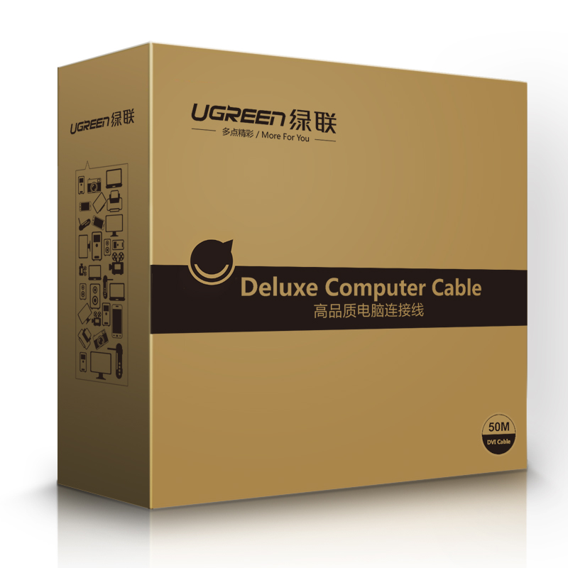 Cáp máy in USB 2.0 sang USB-B tích hợp IC khuyếch đại dài 10m UGREEN US122 10374 - Hàng chính hãng