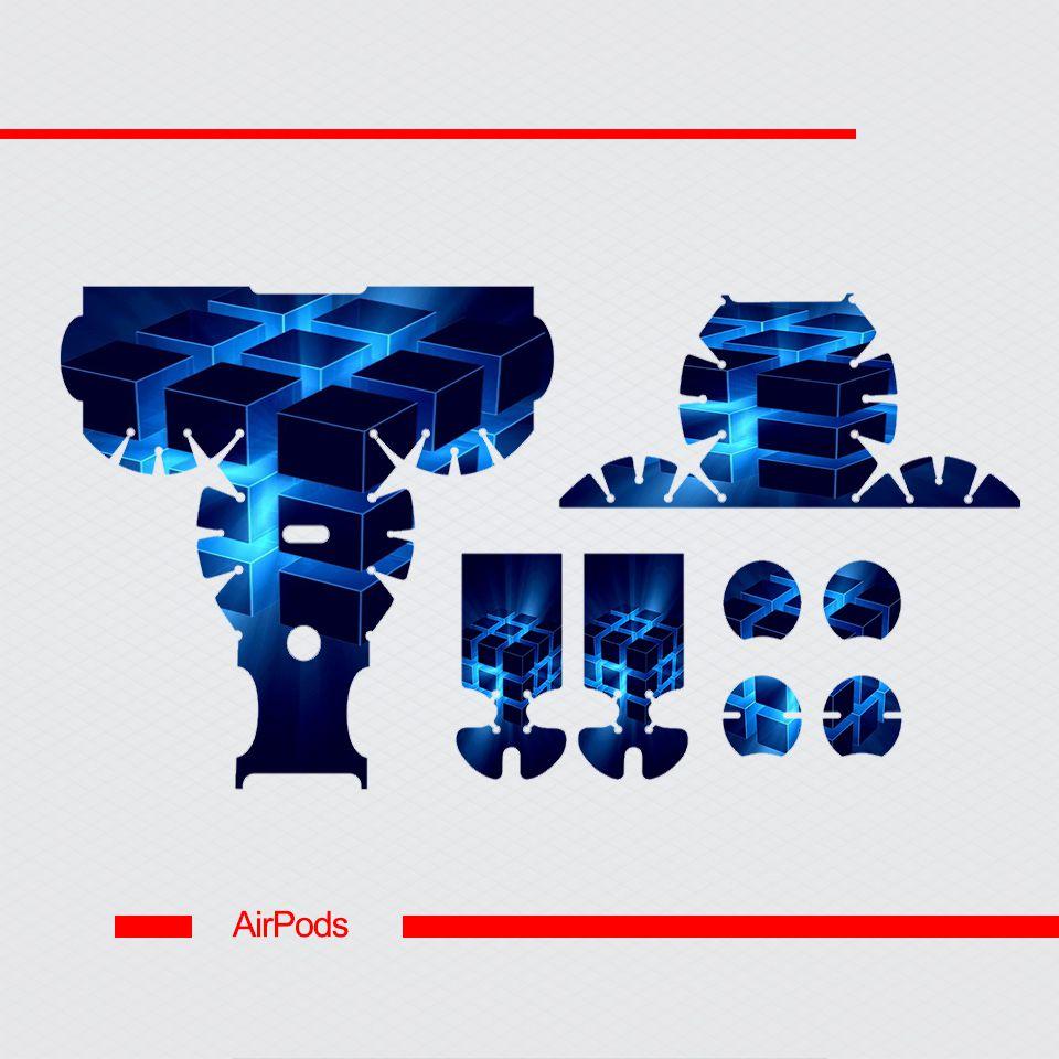 Miếng dán skin chống bẩn cho tai nghe AirPods in hình thiết kế - atk158 (bản không dây 1 và 2)
