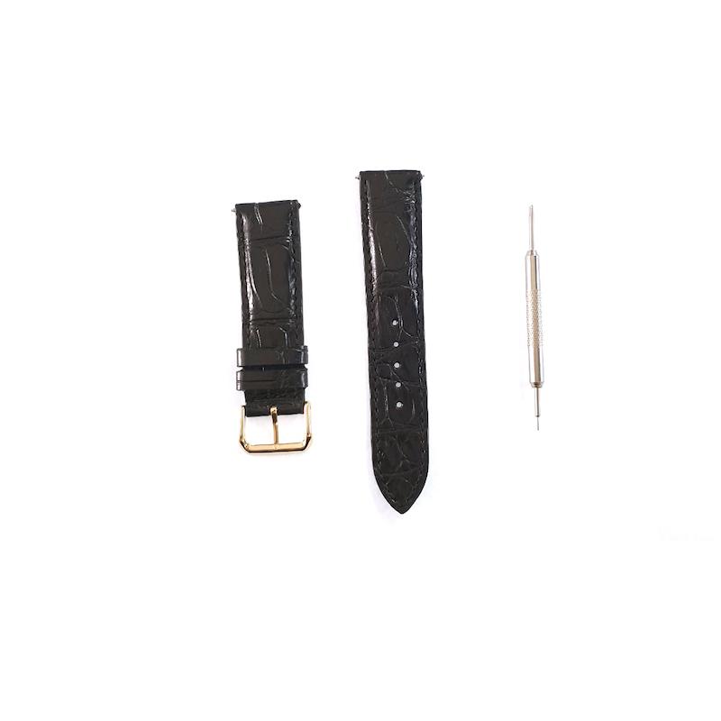 Dây da cá sấu cỡ 20mm kèm dụng cụ thay cho đồng hồ Samsung Galaxy Watch 42mm