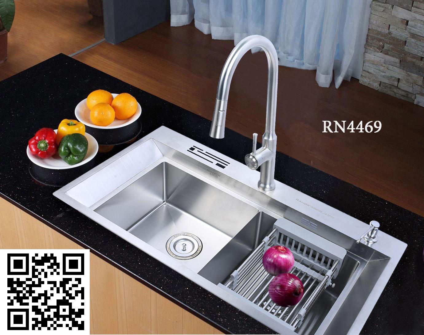 Bộ Chậu rửa bát inox Hàn Quốc RANOX