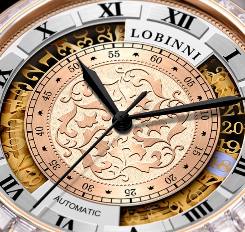 Đồng hồ nam chính hãng Lobinni No.1830-1