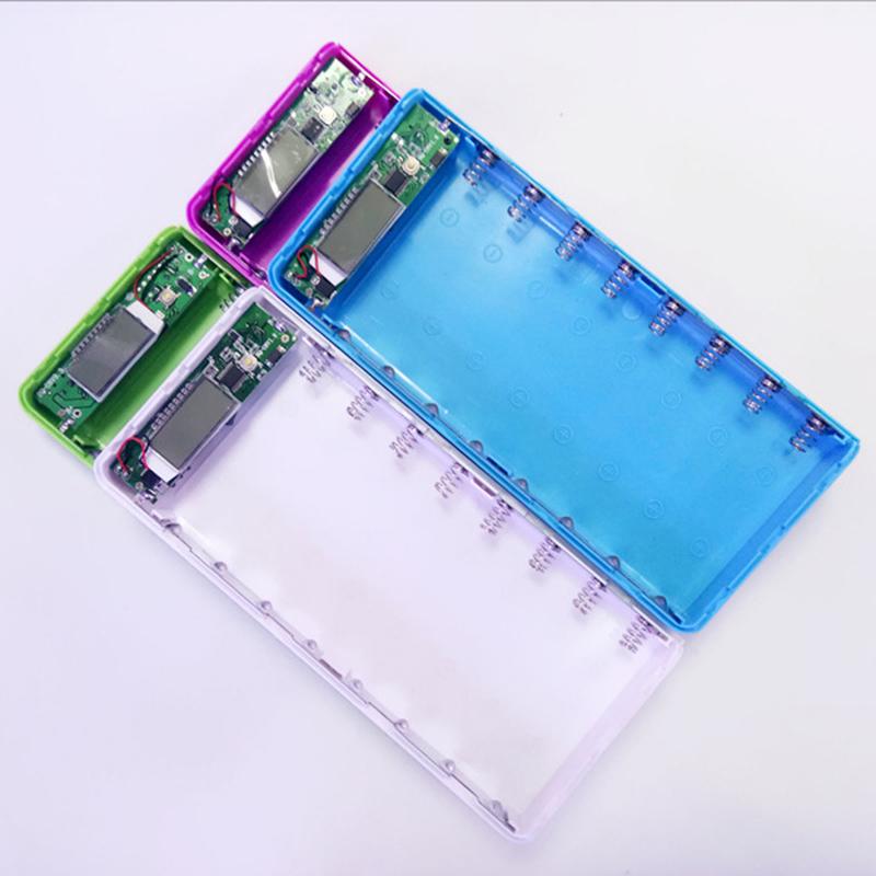 Box Sạc Dự Phòng 8 Cell 18650 Màn LCD VDDP0606 (Không Pin) Giao màu ngẫu nhiên
