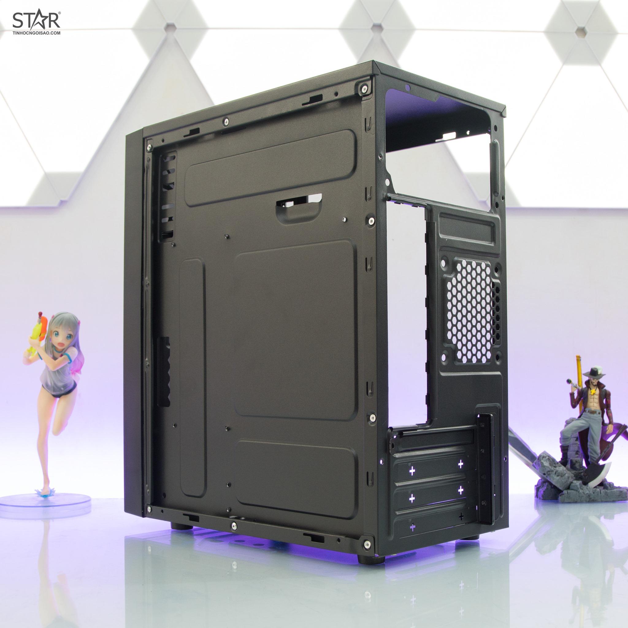 Thùng Máy Tính Case VSP V206 Tích hợp LED RGB Hỗ trợ USB3.0 - Hàng nhập khẩu
