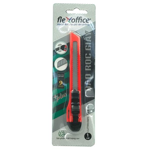Dao Rọc Giấy FO-KN01B 9mm - Màu Đỏ