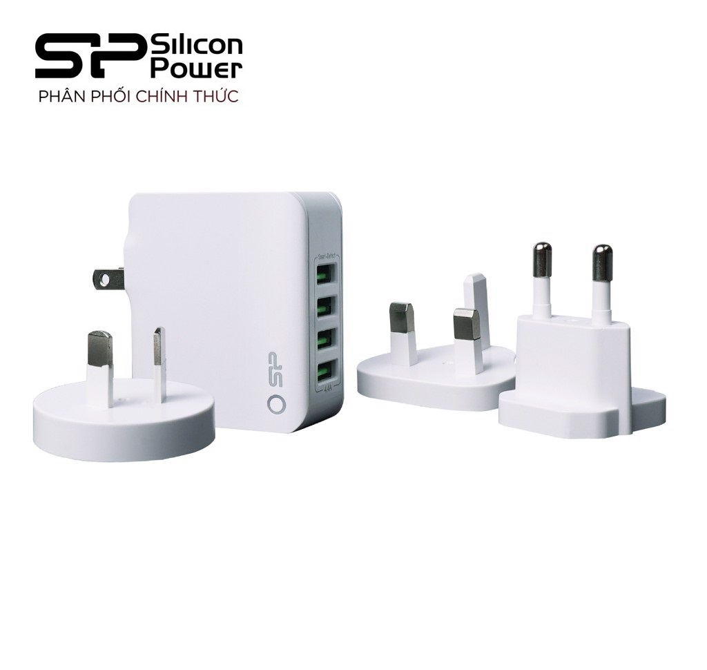 Cóc sạc boost charger WC104PG 4 cổng USB Silicon Power (Global) – Hàng Chính Hãng