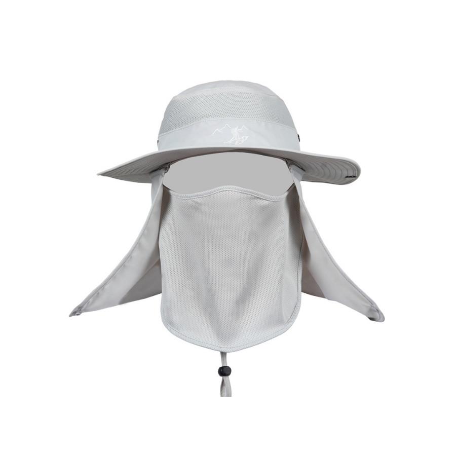 Mũ chống nắng nam vành to kèm bịt mặt  chống tia uv - Hàng chính hãng