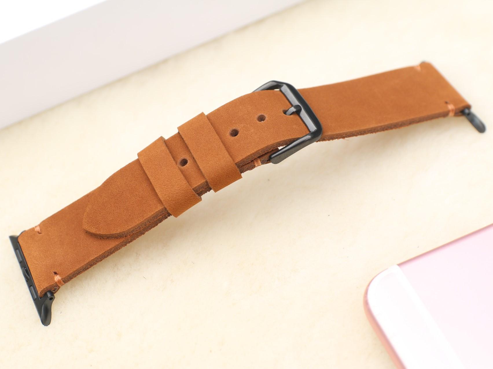 Dây Đeo Thay Thế Dành Cho Apple Watch 1,2,3,4,5,6, SE - Da dò sáp Handmade