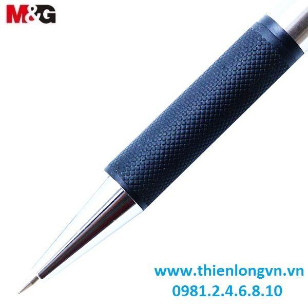 Hộp 12 cây Bút bi 0.7mm inox M&G - ABP01771 màu đen
