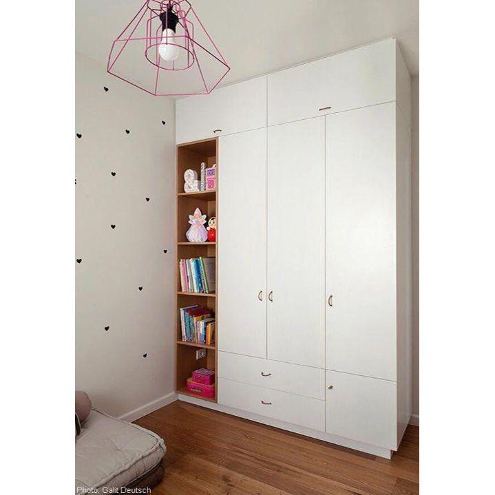 Tủ quần áo bằng gỗ cho gia đình với thiết kế đa năng