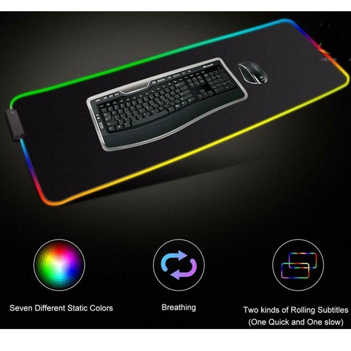Lót chuột Glowing Cool FSD-15 RGB 400*900 - Hàng Nhập Khẩu