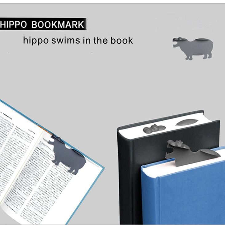 Đánh dấu trang book mark đặc biệt Hà Mã Bơi Trong Sách