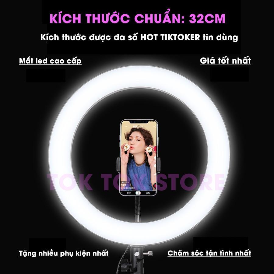 Đèn Livestream quay Tiktok, trợ sáng chụp hình. Hỗ trợ Makeup, Thẩm mỹ, Trẻ hóa da bảo vệ mắt (tặng kèm đầu đọc thẻ nhớ cao cấp)