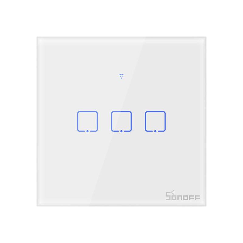 Công Tắc Điều Khiển Âm Tường Sonoff T2EU 3C (vuông)