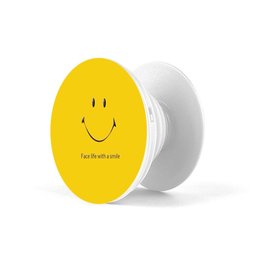 Gía đỡ điện thoại đa năng, tiện lợi - Popsockets - In hình SMILE 02 - Hàng Chính Hãng